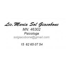 Lic. María Sol Giacobone