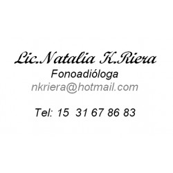 Lic. Natalia K. Riera