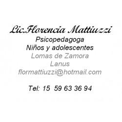 Psicopedagoga Florencia Mattiuzzi